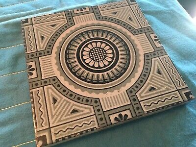 Mintons China Works Stoke Trent England Antique Ceramic Tile Aesthetic Movement