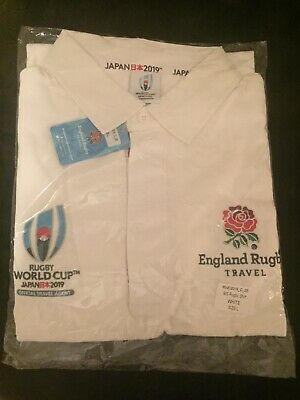 Rugby World Cup 2019 England Rugby Travel Polo Shirt Short Sleeve Large