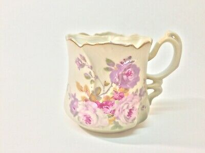 Hand Painted Nippon Porcelain Tea Cup with Tea Bag Strainer