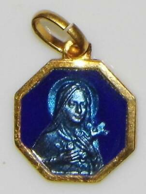 THERESA LITTLE FLOWER ST SAINT THERESE OXIDISED MEDAL IN PRESENTATION WALLET