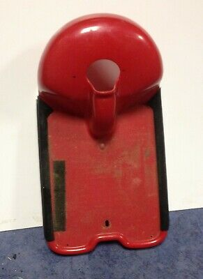 red  WHISPER Mobility Scooter used plastic floor base lower footboard