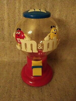 Vintage M&Ms Plastic Gum Ball Machine Candy  Dispenser Collectible