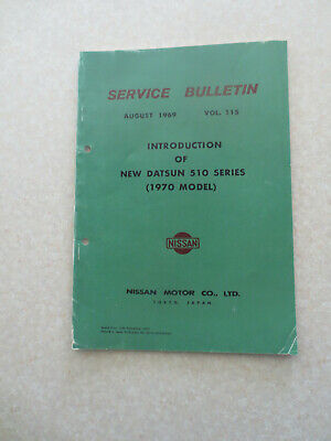 1970 Datsun 510 series car design & specifications information booklet