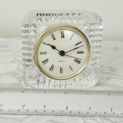 Crystal Quartz Desk Shelf Clock Made in France jp
