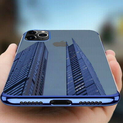 Plating TPU Glossy Soft Slim Case Cover For iPhone 11 Pro Max XS XR X 8 7 6 Plus
