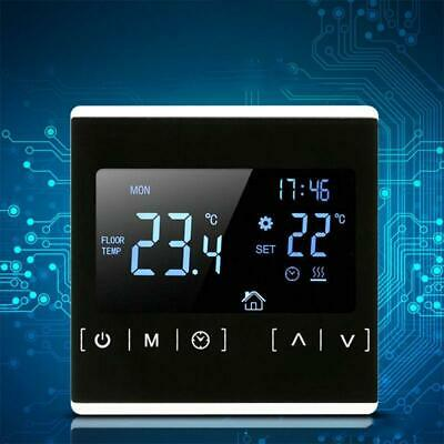 LCD Touch Screen Thermostat Water Electric Floor Heating Temperature Controller