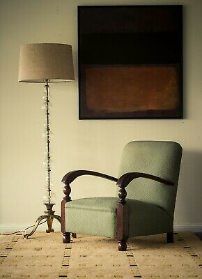 A lovely vintage 1940s lounge chair Mid Century Modern Art Deco style