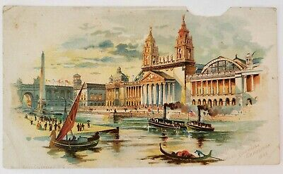 1893 Worlds Fair Columbian Exposition Machinery Hall Building McLaughlins Coffee