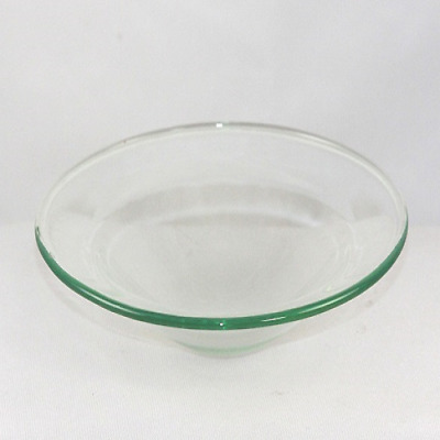 Replacement Glass Dish Aroma Lamp Wax Tart Oil Warmer Clear 4 inch Round