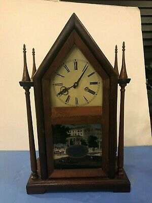 Steeple Mantel Clock with Gong Chime  CTx# 240