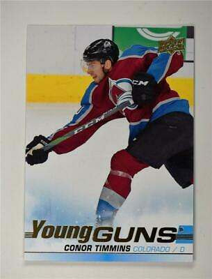 2019-20 UD Series 1 Young Guns YG #203 Conor Timmins - Colorado Avalanche