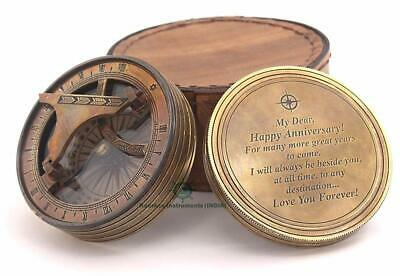 Confidently in The Direction Brass antique Nautical Compass Christmas Day gift