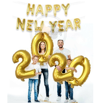 """16"""" Self Inflating MERRY CHRISTMAS/HAPPY NEW YEAR Party Balloons Decor Letters"""