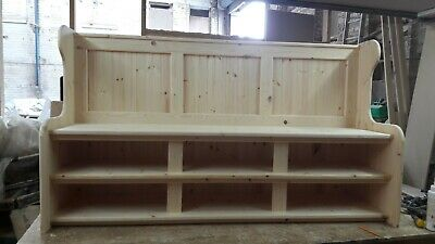 6ft Solid Pine Bench Church Pew With Under Seat Shoe Rack