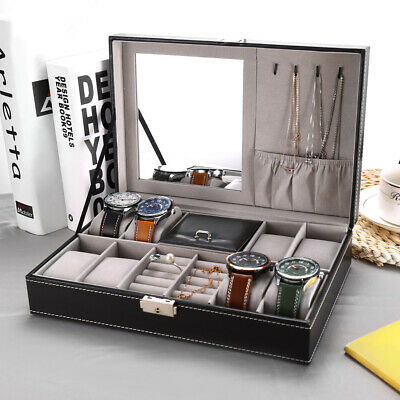 11 Slot Watch Box Display Case Organizer Cushion Storage Box WristWatch Jewelry