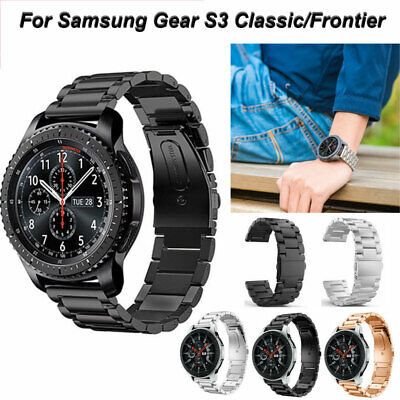 For Samsung Gear S3 Frontier Classic Band Metal Stainless Steel Strap Wristband