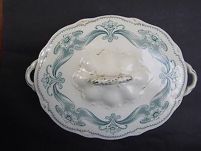 Antique ART NOUVEAU '' MELBA '' W.H.GRINDLEY & CO SOUP BOWL Vnt 1890's