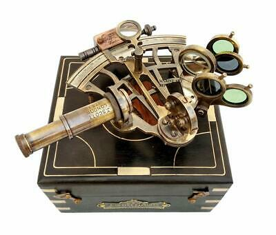 J.Scott London Brass Sextant w/Box Nautical Maritime Gift Navigational