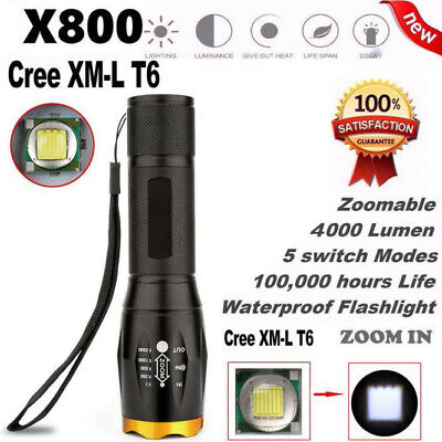 Ultrafire Tactical 18650 Flashlight T6 High Powered Zoomable CREE X800 Flashligh