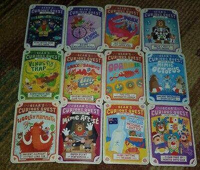 Yoyo Bear Curious Quest collectors cards 5 for £1