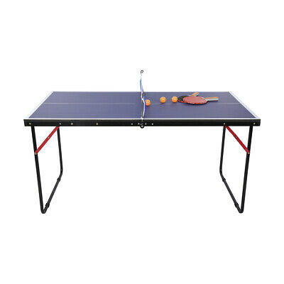 Brand New Portable Mini Table Tennis Table Foldable Type Includes Bats Net Posts