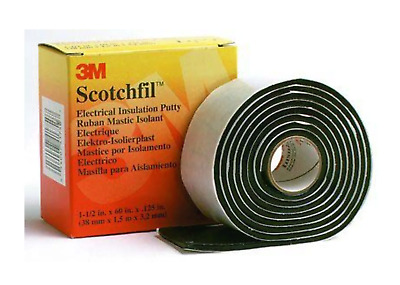 3M Scotchfil Black Electrical Tape 38mm x 1.5m 80000 Synthetic Rubber 3.18mm +80