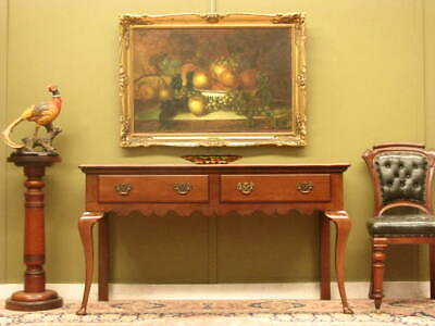 Vintage French Cherrywood 2 Drawer Hall Or Side Or Sofa Table / Writing Desk