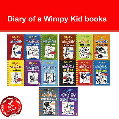 Diary of a Wimpy Kid Series by Jeff Kinney Books Collection Set Children's Pack