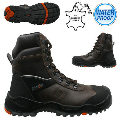 Mens Leather Waterproof Military Combat Safety Steel Toe Work Hiker Boots Shoes