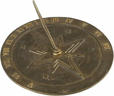 Rome Industries 2310 Roman Sundial Antique Brass Nautical Compass