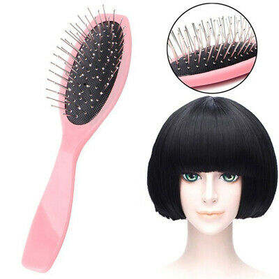 SN_ Professional Anti Static Steel Comb Brush for Wig Hair Extensions Training