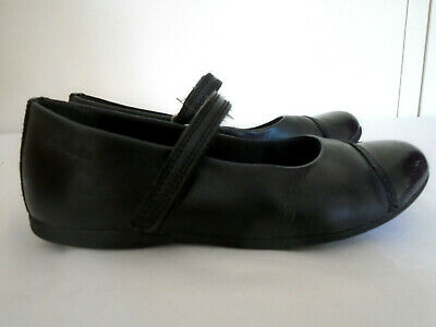 CLARKS Girls Shoes Size 12 F Black Leather Mary Jane School Smart