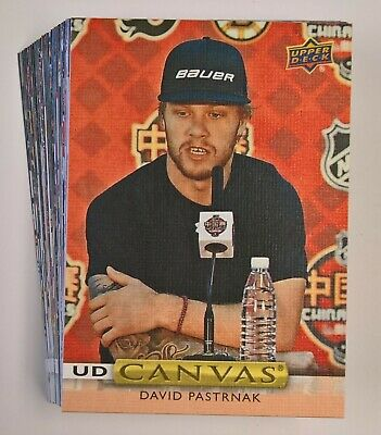 2019-20 Upper Deck Hockey Series 1 UD CANVAS Insert Cards (Pick Your Own)