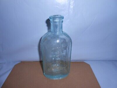 Vtg/Antique 1846 Pond's Extract Aqua Glass Embossed Apothecary Medicine Bottle