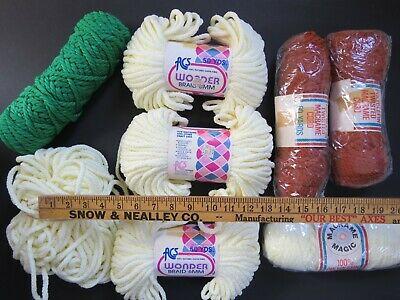 Vintage Macrame Cord Lot, Yarn Planter Hanger Patterns Books Weaving Tapestry