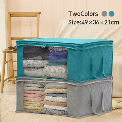 Large Foldable Clothes Storage Bag Dust-proof Quilt Luggage Organizers Pouch New