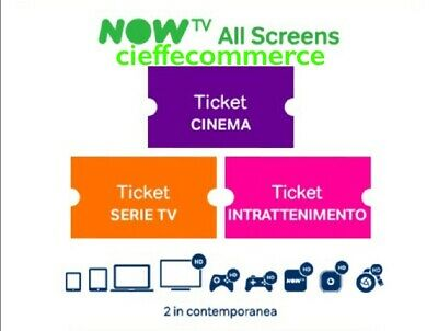 CODICE SCONTO NOW TV TICKET CINEMA SERIE TV INTRATTENIMENTO OPZIONE+ €14,99/mese