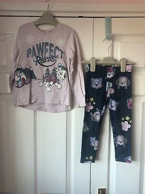 Next Girls Paw Patrol Top And Leggings Set Outfit 3-4 And 4-5