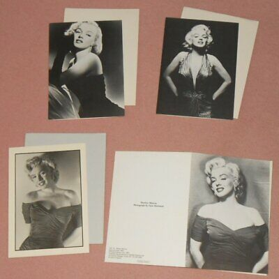 MARILYN MONROE - Set Of 4 B/W Greeting Cards 1981 GENE KORNMAN FRANK POWOLNY