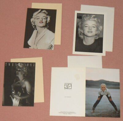 MARILYN MONROE - Set Of 4 B/W Greeting Cards 1990s WEEGEE FEINGERSH EVE ARNOLD