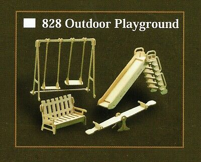 OUTDOOR PLAYGROUND MODEL FURNITURE KIT for DOLLS HOUSE 12th SCALE Wood Craft Kit
