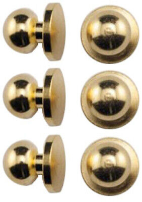DOLLHOUSE MINIATURE COLLECTIBLE Building Materials Hardware BRASS DOOR KNOBS x6