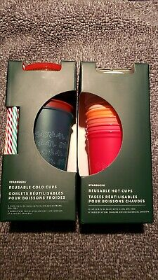 New Starbucks 2019 Holiday Reusable Hot And Cold Cup Set 12 Cups Total