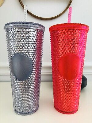 Starbucks Fall 2019 Limited Edition Studded Tumbler Cup - Hot Pink & Platinum