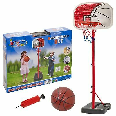 Free Standing Basketball Set Hoop Net Backboard Carry Case 166cm Childrens Kid