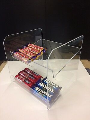 Counter Confectionery Gum Chocolate Sweet Display Unit Stand Acrylic Perspex