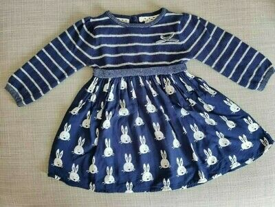BNWOT - Baby Girls Next Dress 3-6 months Navy Blue ideal for Christmas