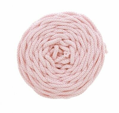 NTS sewing Knitting technology 50m cotton cord 6mm wide For Macrame - Baby pink