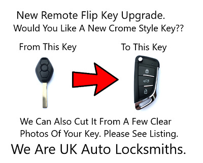 NEW Remote Flip Key FOB HU92 Upgrade Fits Bmw 3 Series E46 X3 X5 E53 ID44 Chip