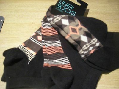 3 Pair Pack Womens Ladies Trainer Socks Liner Socks Size Uk4-7 - New With Tags